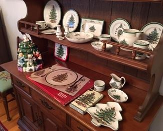 Spode Christmas Tree- Place settings and individual serving pieces