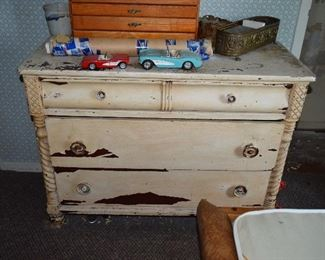 Vintage Dresser, Home Decor, Model Cars