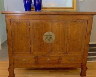 Chinese Elm Antique Cabinet/Armoire