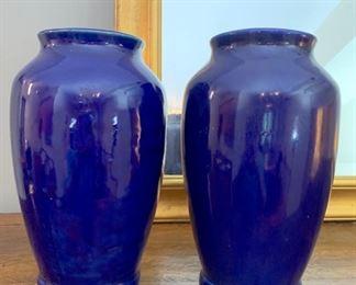 Two Blue vases