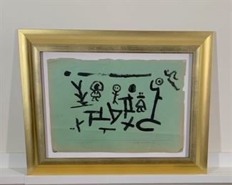 Paul Klee original on construction paper.