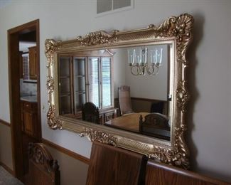 Large gilded mirror