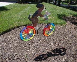 dog on bike whirlygig