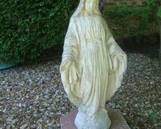 concrete Mary statue