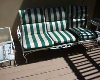 3-cushion patio sofa