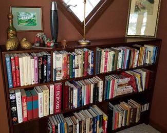 Books, etc, in the Den