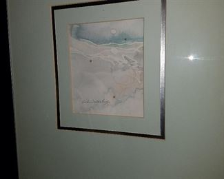 Framed artwork, signed