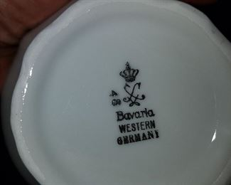 Mark on bottom Bavarian china set