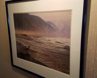 Seascape print by the late West Michigan artist, Armand Merizon. Dated 1893.