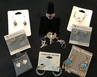 Sterling silver earring rings