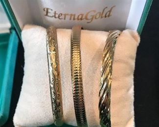 14k Bangle bracelets