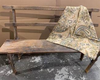 Antique Rustic Deck Bench https://ctbids.com/#!/description/share/186826