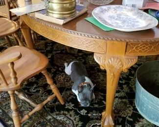 Chippendale Oval Table ( Lazy Bulldog Not Included)