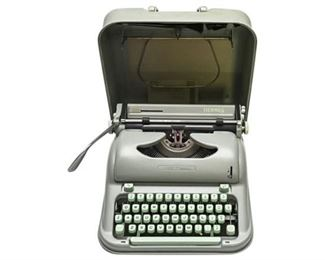 4. Vintage Mint Green HERMES Portable Typewriter