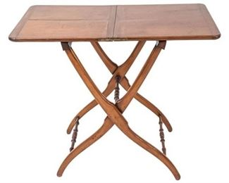 5. Antique English Regency Coaching Table