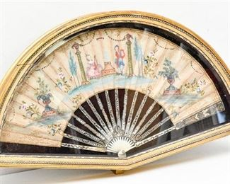 19. Fine Antique Hand Painted French Fan
