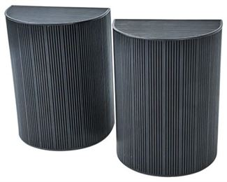 48. Pair of Demilune Reeded Console Tables