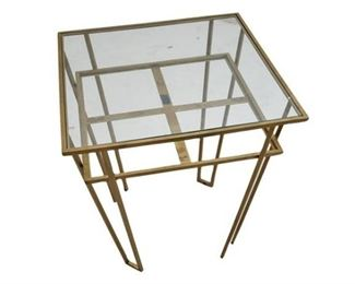 57. Contemporary Brass Side Table