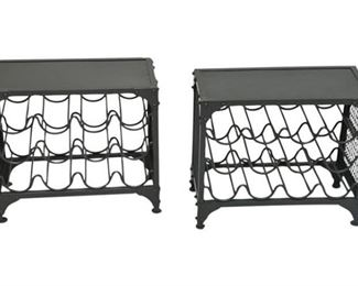65. Pair of Metal Wine Racks