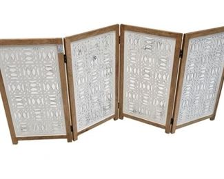 69 . Tribal Style Four 4 Panel Screen
