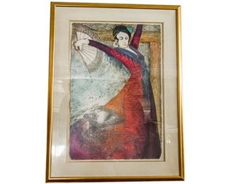 77. 20th c American School, Flamenco Dancer