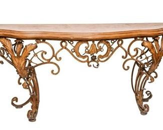 88. French Style Iron Console
