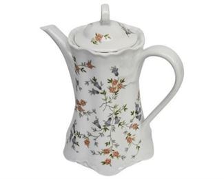 90. Floral Porcelain Chocolate Pot