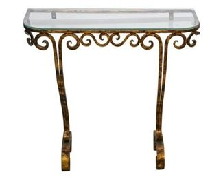 96. French Gilt Iron Console