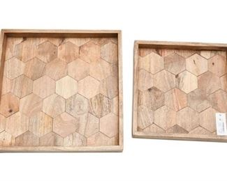105. Set of Contemporary Wooden Trays