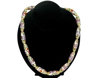 124. 24 Womens Chinese Porcelain Link Necklace