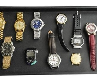 134. Lot Mens Wristwatchs SWISS
