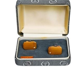 139. Pair Mens Dolan  Bullock Gold Filled Cufflinks wDiamond