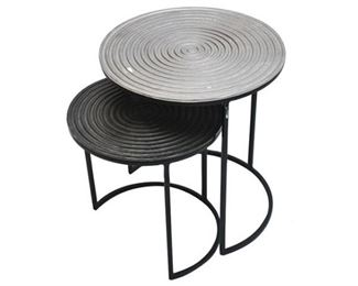 150. Set of Two 2 Contemporary Side Tables