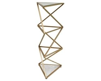 153. Contemporary Gilt Metal Etagere