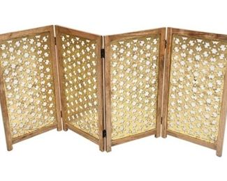 156. Ottoman Inspired Four 4 Panel Screen