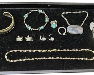 158. Mixed Group Lot Sterling Silver Jewelry Vintage