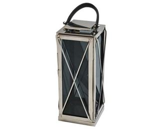 162. Contemporary Chrome Lantern