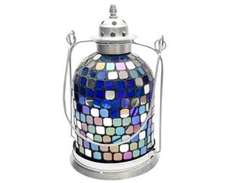 163. Multi Colored Mosaic Lantern