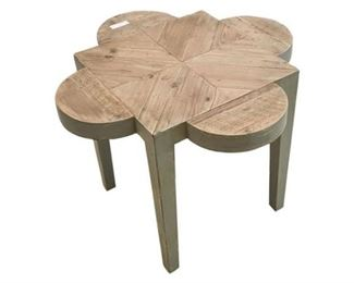166. Contemporary Wooden Clover Leaf Side Table