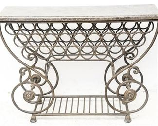 178. French Style BakersWine Rack Unit wFaux Marble Top