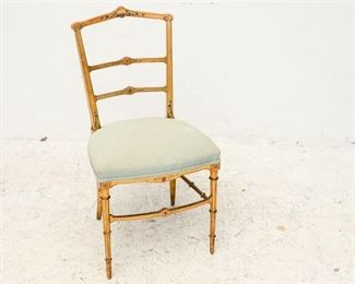 180. Vintage French Provincial Gilt Finish Side Chair