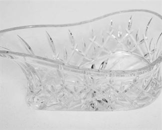 186. Crystal Wine Bottle Casket wCut Glass Decoration