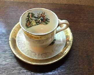 victorian tea cup and saucer