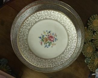 gold trimmed china