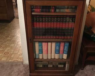 Antique  Mahogany Bookcase Cabinet 50's