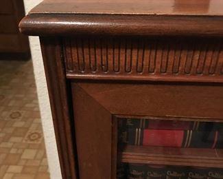 Details on antique bookcase