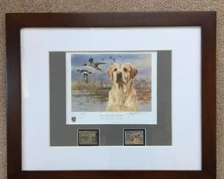 'Governor's Edition' - Sporting Dog Series - Yellow Labrador - Pintails, Signed & Numbered by JAMES KILLEN