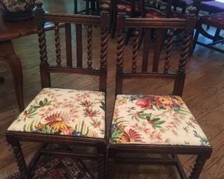 English side chairs