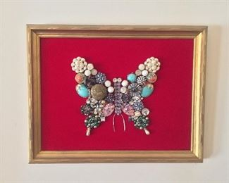 Vintage Jewelry Butterfly Collage