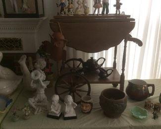 Vintage wood tea cart